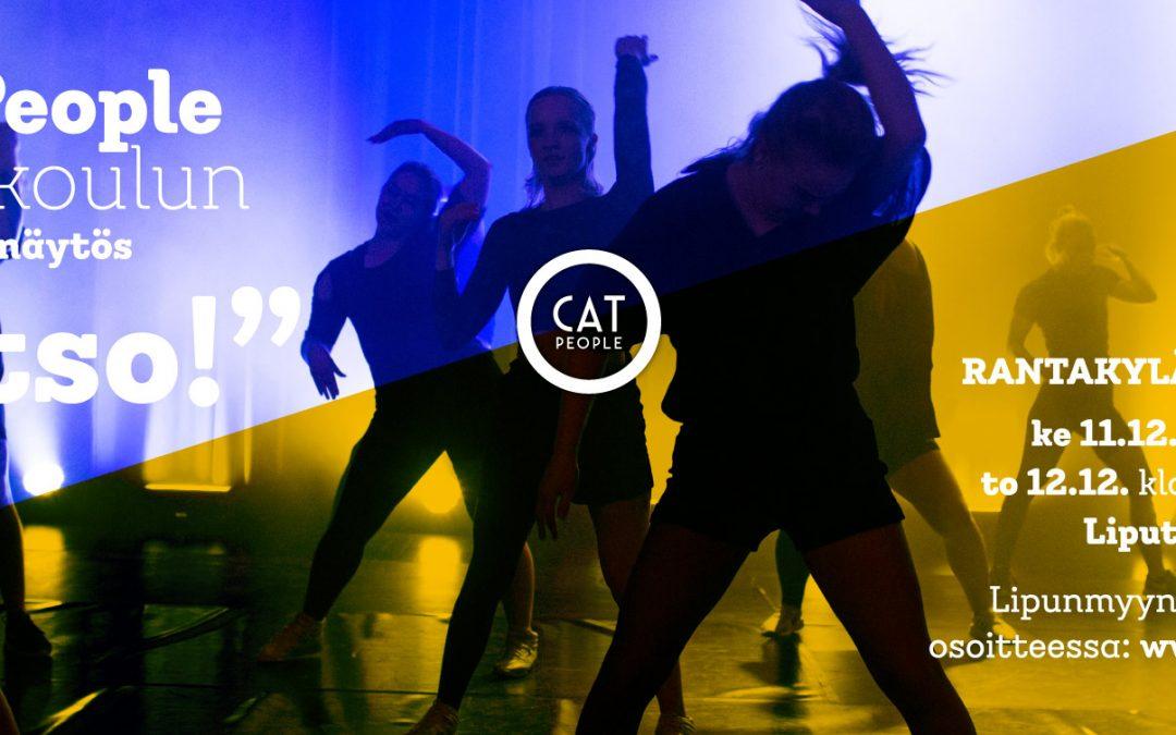 """Cat Peoplen oppilasnäytös """"Katso!"""" 11 ja 12.12.2019"""